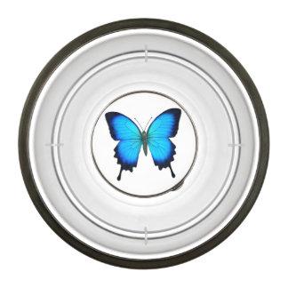 Blue Papilio Ulysses Butterfly Pet Food Bowl Pet Bowl