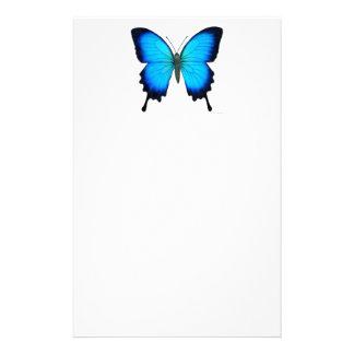 Blue Papilio Ulysses Butterfly Stationery
