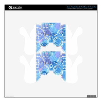 Blue Paradise Decal For PS3 Controller