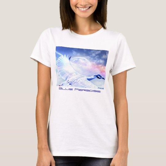Blue Paradise Egret Bird T-Shirt