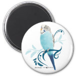 Blue Parakeet 2 Inch Round Magnet