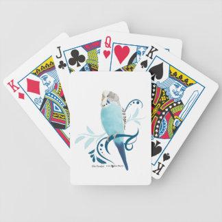 Blue Parakeet Bicycle Playing Cards