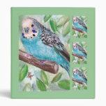 Blue Parakeet Binder
