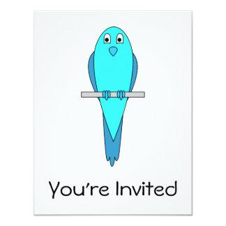 Blue Parakeet Bird Card