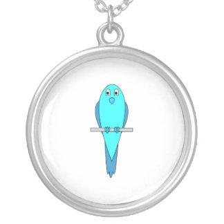 Blue Parakeet Bird Pendants