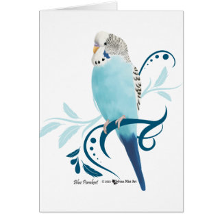 Blue Parakeet Card