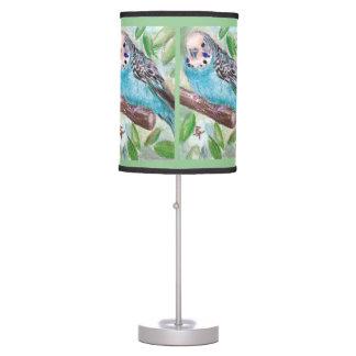 Blue Parakeet Desk Lamp