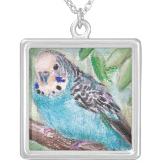 Blue Parakeet Necklace