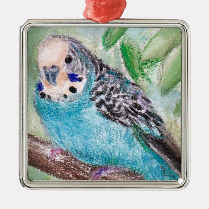 Blue Parakeet Ornament