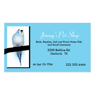 Blue Parakeet Pet Store Business Card