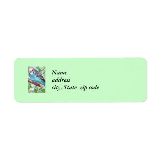 Blue Parakeet Return Address Labels