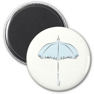 Blue Parasol 2 Inch Round Magnet