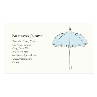 Blue Parasol Double-Sided Standard Business Cards (Pack Of 100)