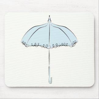 Blue Parasol Mouse Pad