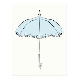 Blue Parasol Postcards