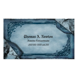 Blue Parchment Calling Card Gothic Business Card