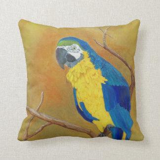 Blue Parrot American MoJo Pillow