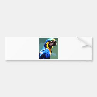 Blue Parrot Car Bumper Sticker