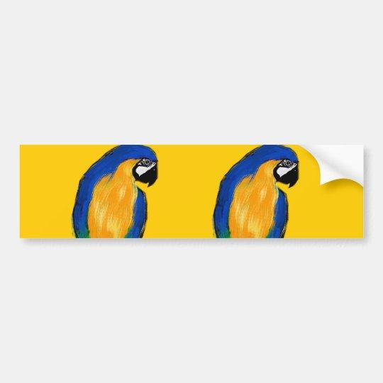 Blue Parrot Bumper Sticker