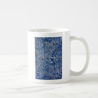 Blue Parrot in the Trees Classic White Coffee Mug