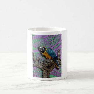 Blue Parrot & Palms mug