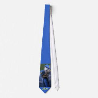 Blue Parrots Love Neck Tie