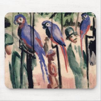 Blue Parrots Mouse Pad