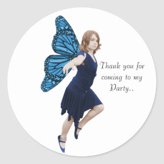 Blue party Fairy Stickers
