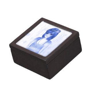Blue Party Girl Flapper Gift Box