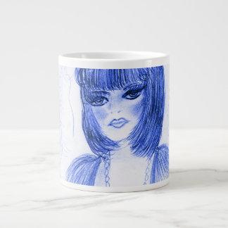 Blue Party Girl Flapper Large Coffee Mug