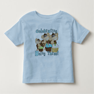 Blue Party Monkeys 3rd Birthday T-shirts and Gifts