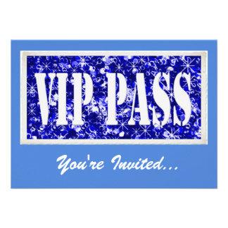 Blue party VIP invitation