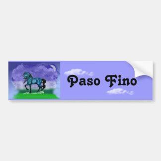 Blue Paso Fino Horse Bumper Sticker