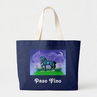 Blue Paso Fino Horse Tote Tote Bag