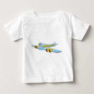 Blue Passenger Jet O Cartoon Baby T-Shirt