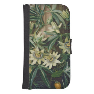 Blue Passion Flower for the 'Temple of Flora' by R Galaxy S4 Wallets
