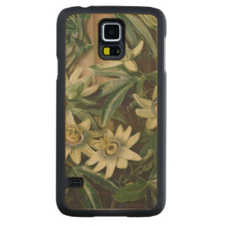 Blue Passion Flower for the 'Temple of Flora' by R Carved® Maple Galaxy S5 Slim Case