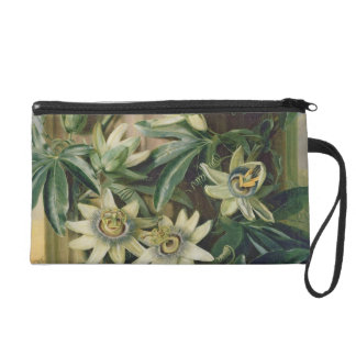 Blue Passion Flower for the 'Temple of Flora' by R Wristlet Purse