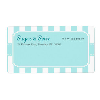 Blue Pastel Patisserie Shipping Label