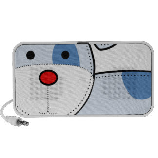 Blue Patch Puppy Doodle PC Speakers
