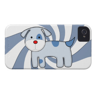 Blue Patch Puppy iPhone 4 Barely There iPhone 4 Cover