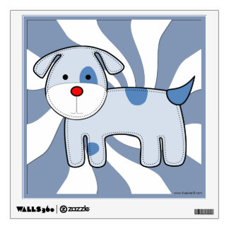 Blue Patch Puppy Wall Sticker