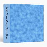 Blue Pattern. 3 Ring Binders