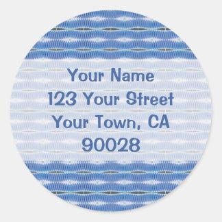 blue pattern address labels