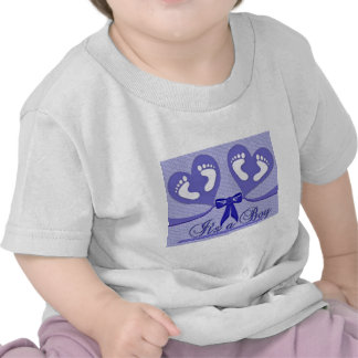 Blue Pattern Baby Shower Mother Love Peace Boy Tees