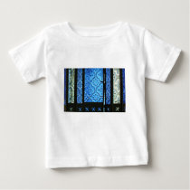 blue pattern baby T-Shirt