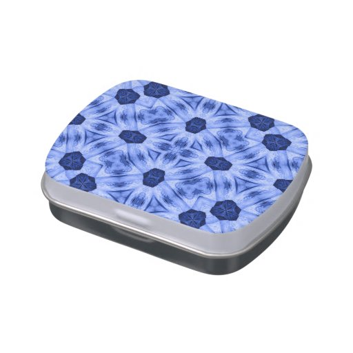 Blue Pattern Candy Tin