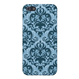 Blue pattern case covers for iPhone 5