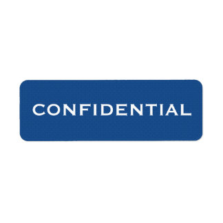 Blue Pattern CONFIDENTIAL label II