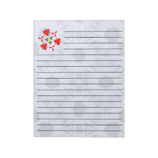 Blue Pattern cool shapes Notepad